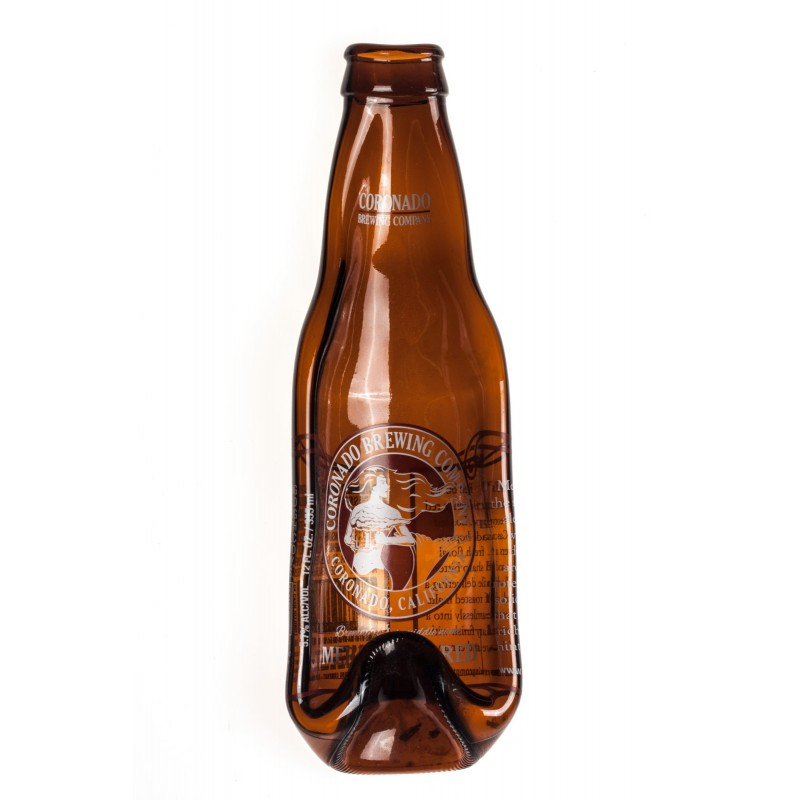 amber beer bottle plate