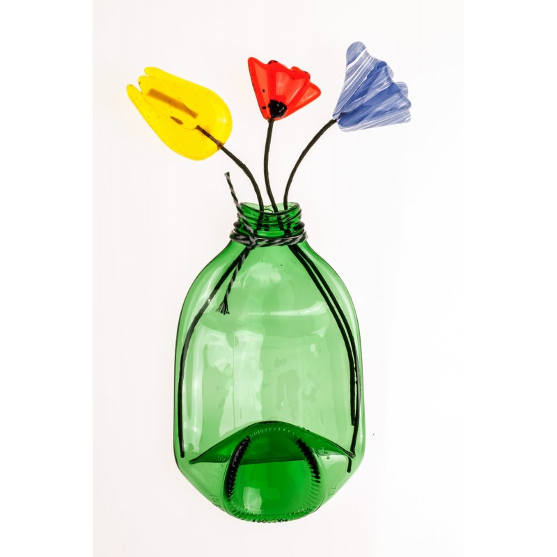 mixed flowers bottle