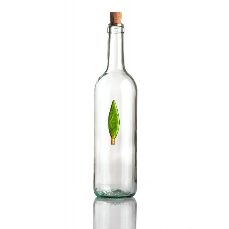 larg bottle with cypress