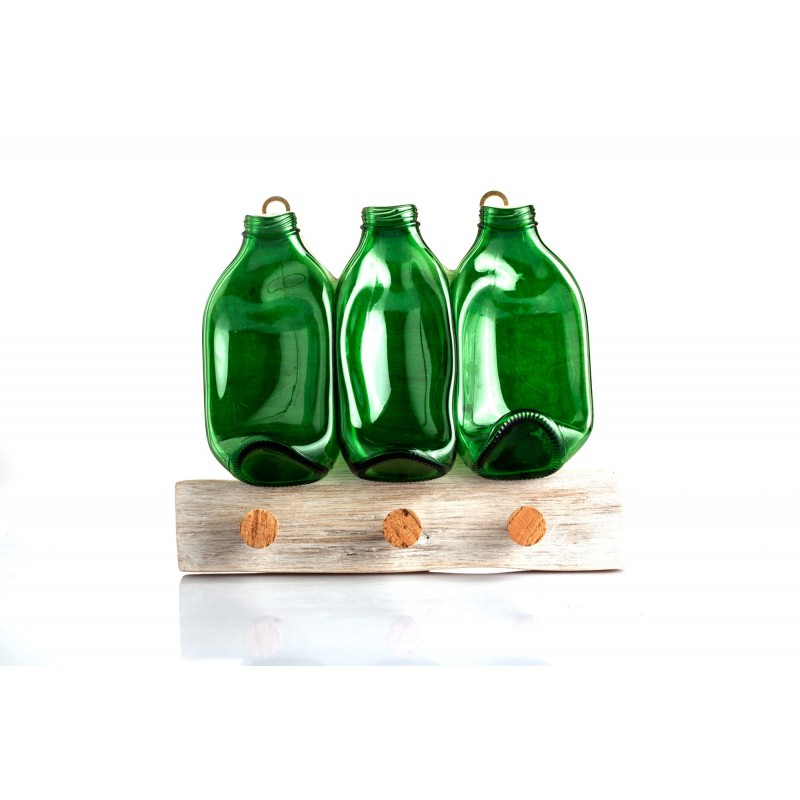 green bottles dish towel hanger