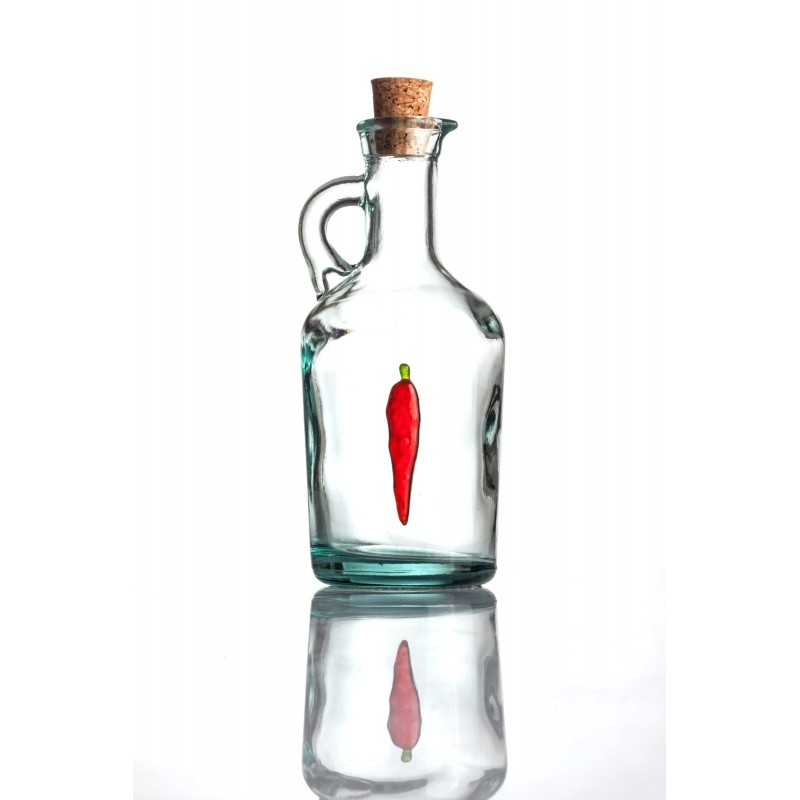 bottle with red pepper