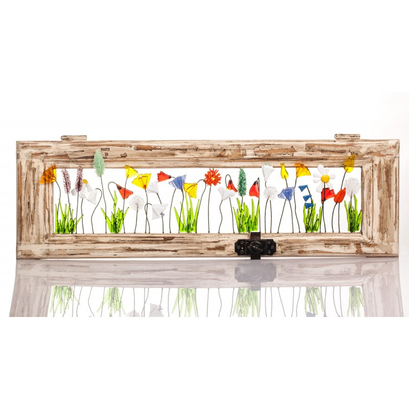 window frame whit flowers
