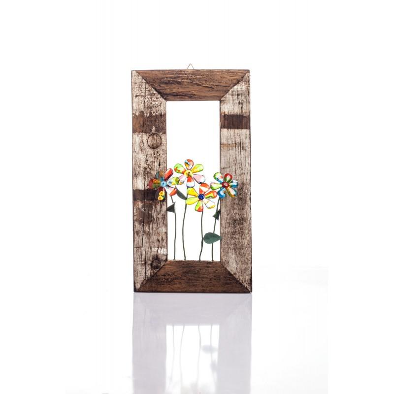 quadro con fiori multicolore
