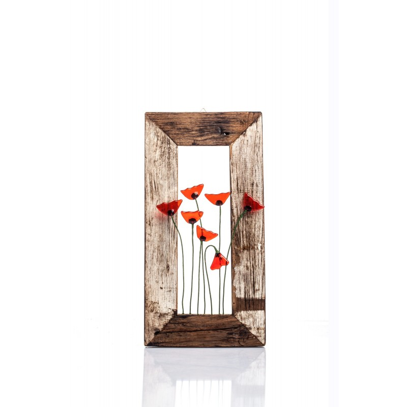 frame with poppies