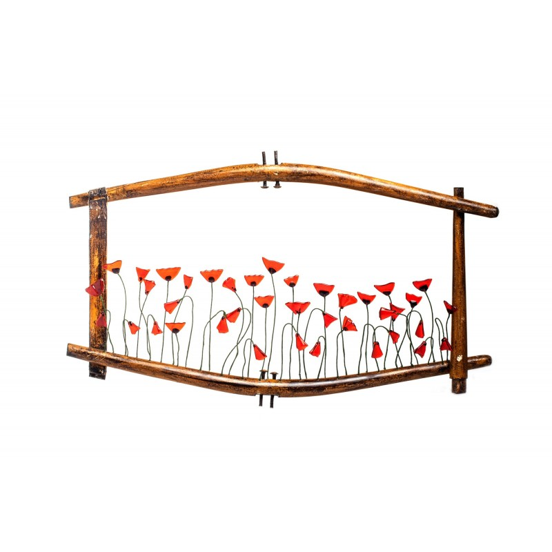 vitage frame with poppies