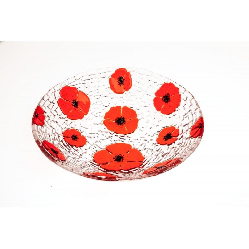 larg multi poppy bowl