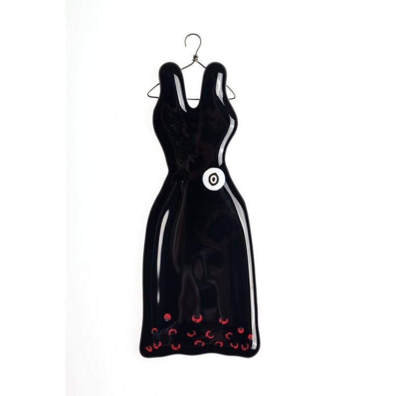 hanging black glass dress