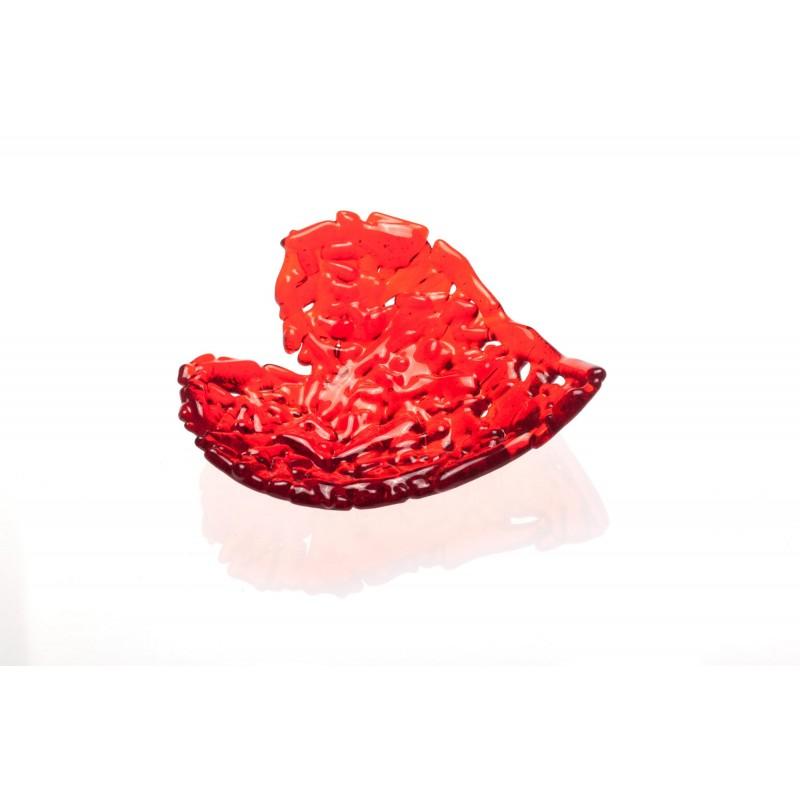 glass heart bowl