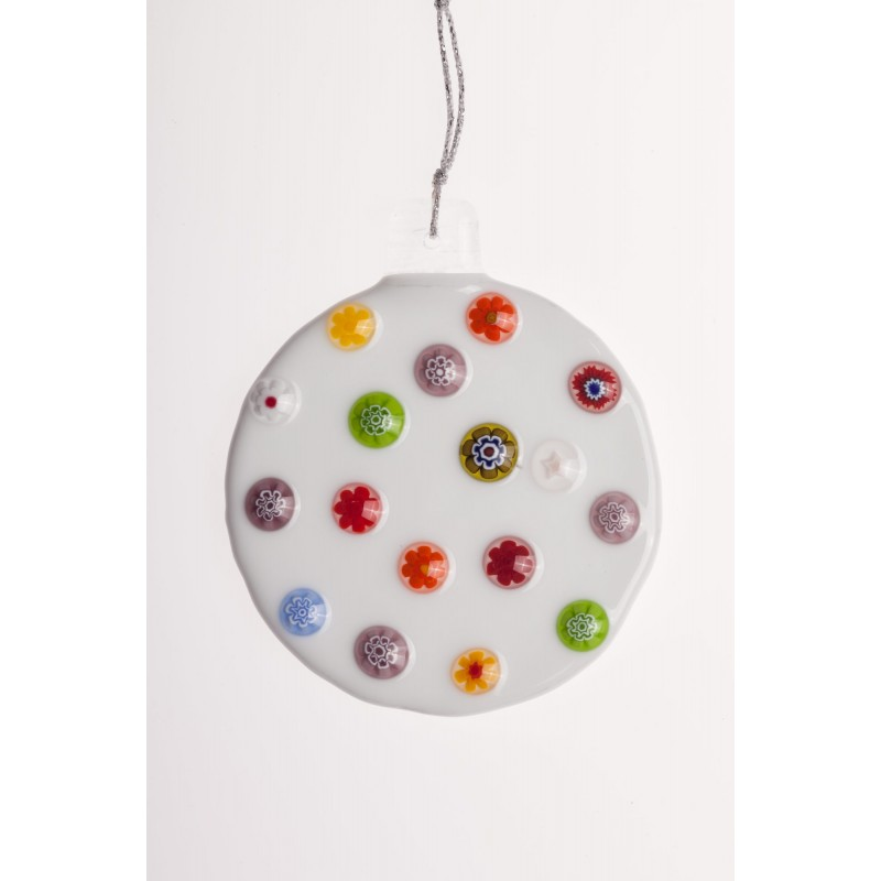 millefiori christmas ball
